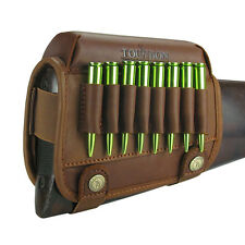 Tourbon Leather Rifle Cartridge Holder Butt StockCheek Piece Rest Pads Gun USA