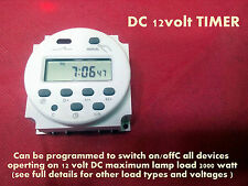DC12V 16A Digital LCD Switch Programmable Timer Switch Time Relay