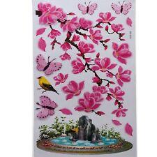 3D Kinder Wandsticker Wanddeko Wandtattoo Wandaufkleber Kirschblüten Vogel