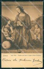 Firenze Città Galleria Pitti Perugino cartolina XB5010