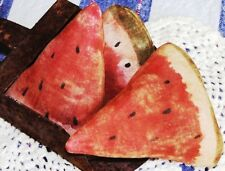 PRIMITIVE WATERMELON WEDGES ~ MAILED PATTERN!! QUICK AND EASY! SUMMER FUN!!!