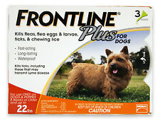 Frontline Plus for Dogs 0-22 lbs 6 Pack Genuine USA