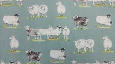 MARSON SHEEP DUCK EGG DESIGNER CURTAIN CRAFT UPHOLSTERY BLINDS FABRIC
