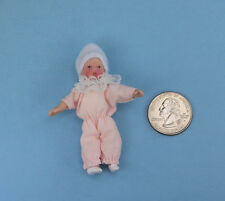 1/12 Scale Dollhouse Miniature Porcelain Baby Girl Doll #WCPD88A