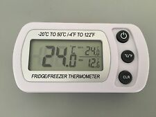 Fridge Refrigerator Thermometer Waterproof Freezer Hanging Hook Stand Large LCD