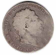 1820 KING GEORGE III SILVER FIVE SHILLING ONE CROWN 5s 5 SHILLINGS b
