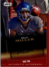 2015 SAGE HIT Autographs #A102 Matt Miller Auto RC