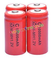 4 x C ricaricabile 1.2V Ni-MH 10000mAh della batteria RED delle cellule