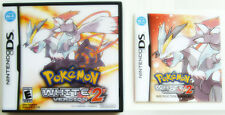 POKEMON WHITE VERSION 2 - Rare NDS video game replacement CASE and MANUAL ONLY!