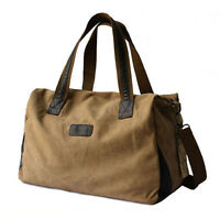 Mens Womens Vintage Canvas Travel Sport Yoga Gym Duffle Bag Shoulder Bag Handbag