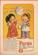 Pubblicità Advertising 1971 FURGA Tina e Tilly