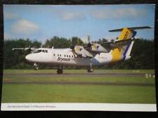 POSTCARD DE HAVILLAND DASH-7 AEROPLANE BRYMON AIRWAYS