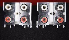 RCA Presa 2 xsets del 2 (rosso e bianco) Verticale PCB Mount per amplificatori, mixer, ecc. pk/2