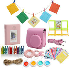 Pink 7 in 1 Instant Camera Accessories Film Bundles For Fujifilm Instax Mini8
