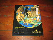 CHRISTIES CATALOGUE IMP ITALIAN MAIOLICA FROM THE ARTHUR SACKLER COLLECTION