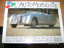 L'Automobiliste n°76 Monoplaces Gordini-Orion BMW 328 MM Tazio Nuvolari Artfons