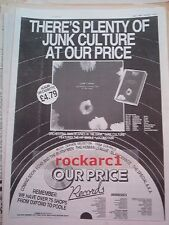 OMD Junk Culture (Our Price) 1984 UK Poster size Press ADVERT 16x12""