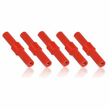 5 x Red 4mm Banana Plug Female to Female Coupler/ Joiner/ Connector