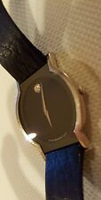 Movado Horizon Solid 18K White Gold Sapphire Museum Men's Super RARE watch!
