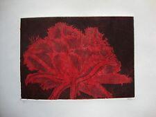 COOL CRYSTAL TULIP RED -LIMITED EDITION SIGNED AQUATINT ETCHING by Studio Angela