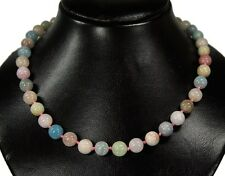 Gorgeous Necklace From the Gemstone Morganite in ball shape D-10 mm
