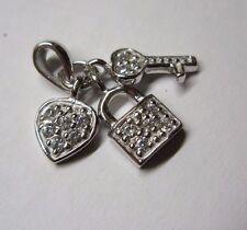 Anhänger, Glücksanhänger kleiner Liebesanhänger in Silber 925 mit Zirkonia