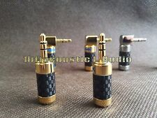 1x Gold Plated Straight 3.5mm Stereo Mini Plug Connector Carbon Fiber Earphone
