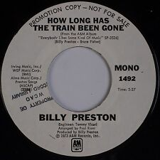 BILLY PRESTON: How Long Has the Train Been Gone USA A&M DJ PROMO 45 NM-