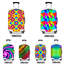 Durable 3D Striped Print Travel Accessories Elastic Luggage Protective Covers