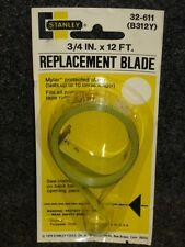 "NOS! VINTAGE STANLEY TAPE MEASURE REPLACEMENT 3/4"" X 12' BLADE, 32-611 B312Y"