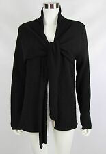 Michael Kors Womens Size Medium Black Tie Front Long Sleeve Cardigan Sweater