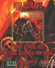 HELLCRAFT - Tyranny Of Middle Ages (CD, 2013) Ukrainian Death Metal, Ognivir