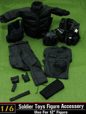 "1:6 Hot Toys Model U.S. SECRET SERVICE HT SWAT Soldier Clothes Set F 12"" Figure"