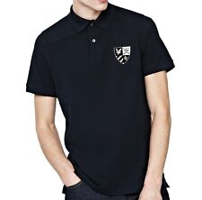 Lyle & Scott Mens S Navy Blue Heritage Crested Polo Shirt BNWT New Golf T-Shirt