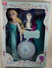 "Genuine Disney Store Frozen Queen Elsa Deluxe Singing Doll Play Set Toy 11"" New"