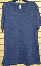 Men's T-Shirt, by Bella+Canvass, 91% Poly, V-Neck,9% Cotton, Made in USA, Size L