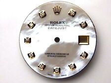 Men's Rolex Datejust 2Tone Non-Quickset 1601 White MOP with Diamond Dial