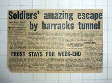 1954 Soldiers Escape By Barracks Tunnel Mcconville Mchale Saxton