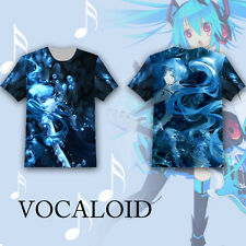 Anime VOCALOID Hatsune Miku T-shirt Tee Tops Summer Short Sleeve Multicolor Loli