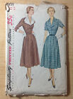 Vintage 1940 1950s SIMPLICITY Women Sewing Pattern 3539 One-Piece Coat Dress B32