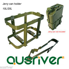 Jerry Can Holder 2.5mm Steel Plastic Coated Rustproof 10L/20L for 4WD/Motorbike