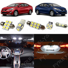 8x White LED light interior package kit for 2011-2015 Hyundai Elantra YE1W
