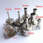 1 set Φ3/4/5/8/10/12mm nozzle for 852 850 Hot Air Stations Gun Soldering station