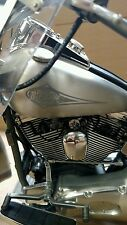 Harley Davidson Motorcycle w/ Heritage Softail Frame & Engine Motor Pewter Model