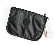 Kipling Harrie Pouch in Black Lacquer cosmetics bag purse makeup zip organizer