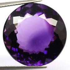 12mm Round-Aspecto Natural Africano Púrpura profundo con amatista (App £ 377)