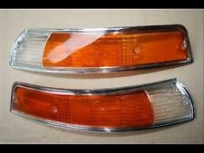 Treser Frontblinker-Set Orange/Weiß Chromrahmen passend für Porsche 911 Mod.´69-