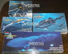 SEAQUEST DSV Sub, STINGER, DARWIN, TRANSPORT Set of All 4 Rare Model Kits MISB