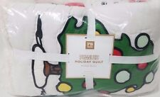 NEW Pottery Barn Teen SNOOPY Peanuts Full Queen QUILT 2 GOOD Grief PILLOWCASES