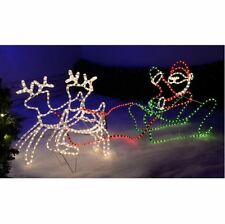 Christmas Reindeer Lights Outdoor Santas Sleigh LED Rope Silhouette Decoration